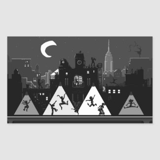 New York Boogie Nights Rectangular Sticker