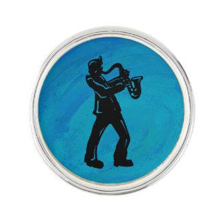 New York Boogie Nights Saxophone Blue Pin