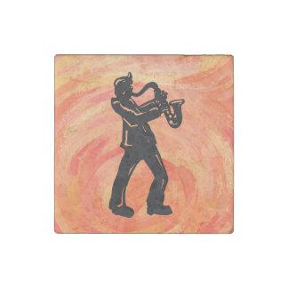 New York Boogie Nights Saxophone Orange Stone Magnet