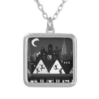 New York Boogie Nights Silver Plated Necklace