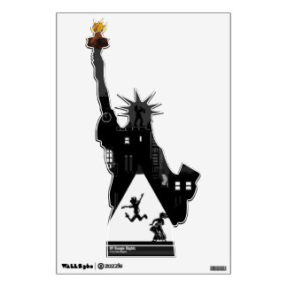 New York Boogie Nights Statue of Liberty Wall Sticker
