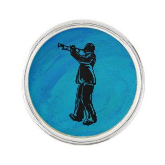 New York Boogie Nights Trumpet Blue Pin