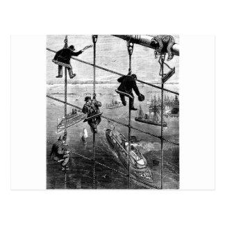 New York, Booklyn Bridge, 1883 Postcard