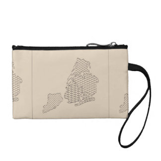 New York Borough Pattern Map Coin Wallet