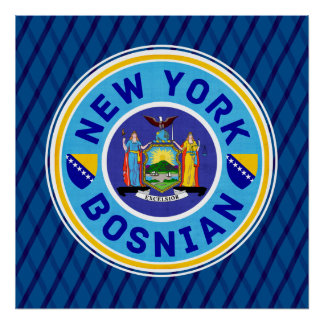New York Bosnian American Artwork Poster