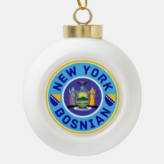 New York Bosnian American Christmas Ornament