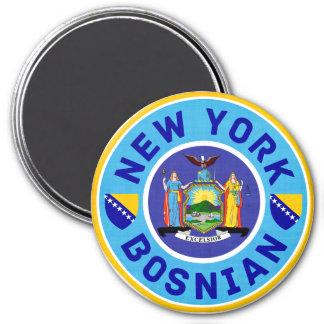 New York Bosnian American Fridge Magnet