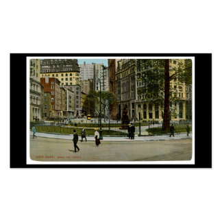 New York. Bowling Green. Business Card Template
