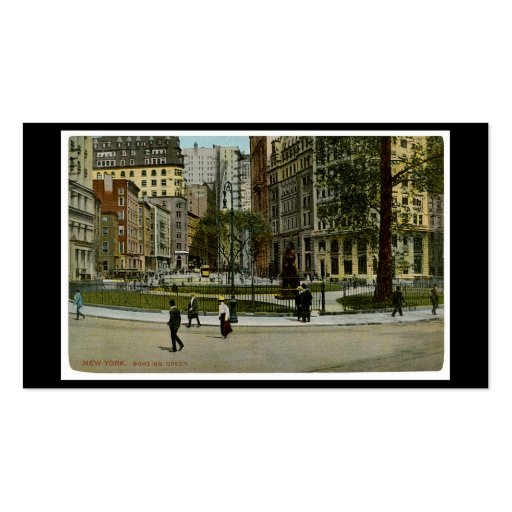New York. Bowling Green. Business Card