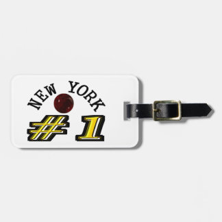 New York Bowling Number 1 Bag Tag