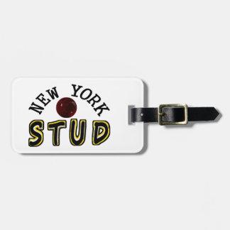 New York Bowling Stud Luggage Tag