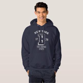 New York Bronx Men's Basic Hooded Sweatshirt