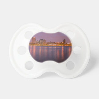 New York Brooklyn At Night Baby Pacifier