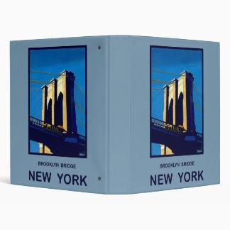 New York Brooklyn Bridge Binder