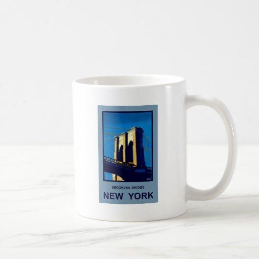New York Brooklyn Bridge Coffee Mugs