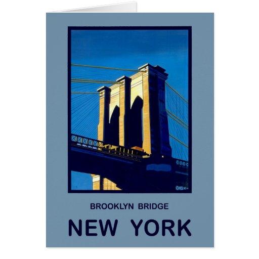 New York Brooklyn Bridge Greeting Card