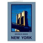 New York Brooklyn Bridge Greeting Cards