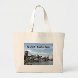 New York - Brooklyn Bridge Large Tote Bag