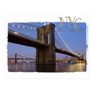 New York Brooklyn Bridge Postcard