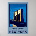 New York Brooklyn Bridge Posters