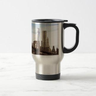 New York Brooklyn bridge Travel Mug