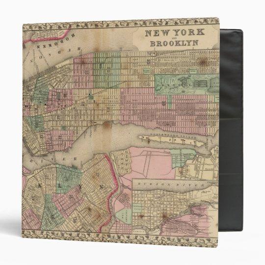 New York, Brooklyn Map by Mitchell 3 Ring Binder