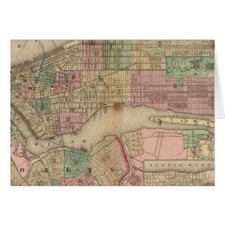 New York, Brooklyn Map by Mitchell Card
