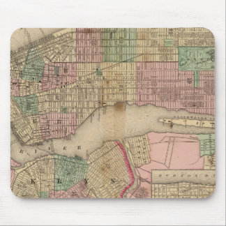 New York, Brooklyn Map by Mitchell Mouse Pad