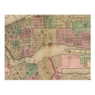New York, Brooklyn Map by Mitchell Postcard