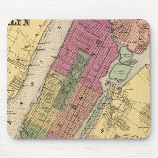 New York, Brooklyn Mouse Pads