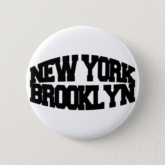 New York Brooklyn Pinback Button