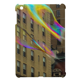 New York Building with Floating Bubbles iPad Mini Cover