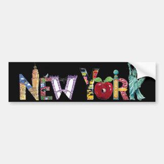 New york city bumper stickers car stickers zazzle - Stickers porte new york ...