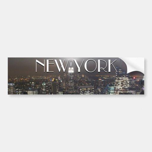 New york bumper sticker new york city stickers zazzle - Stickers porte new york ...