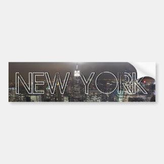 New York Bumper Sticker NY City Bumper Sticker Car Bumper Sticker