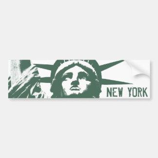 New York Bumper Sticker Statue of Liberty Stickers Car Bumper Sticker
