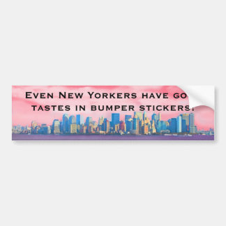 New York Bumper Taste Bumper Sticker