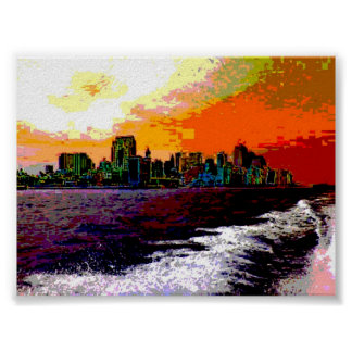 New York By Boat Print