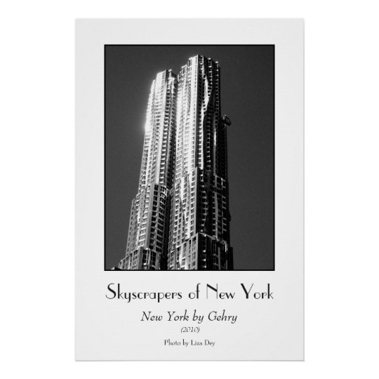 'New York by Gehry' Poster