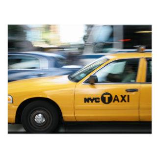 New York Cab Postcard