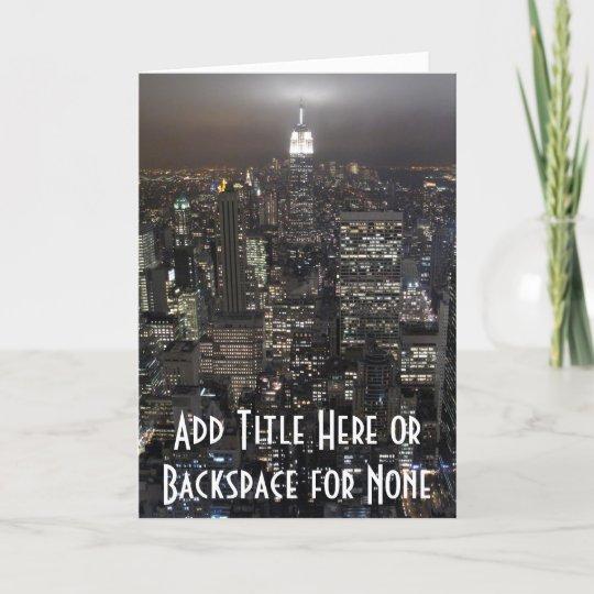 New York Card City Skyline Souvenir