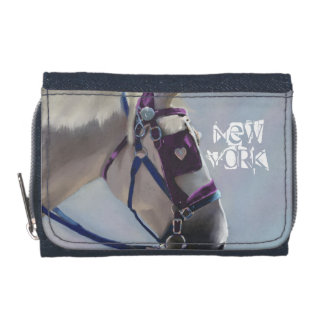 New York Carriage Horse Denim Purse Wallets