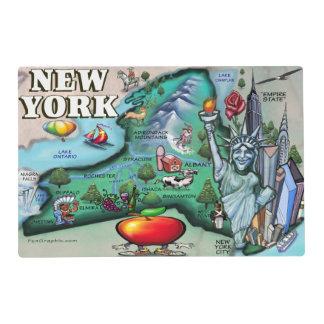 New York Cartoon Map Placemat