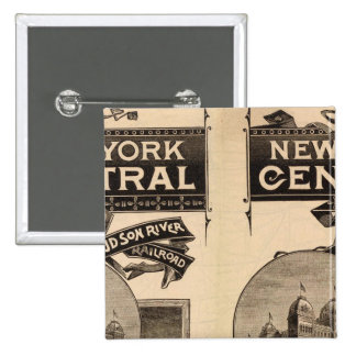 New York Central and Hudson River Railroad Pinback Button