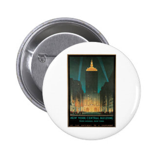 New York Central Building 1930 Pinback Button