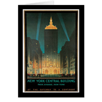 New York Central Building, February 1930 Card