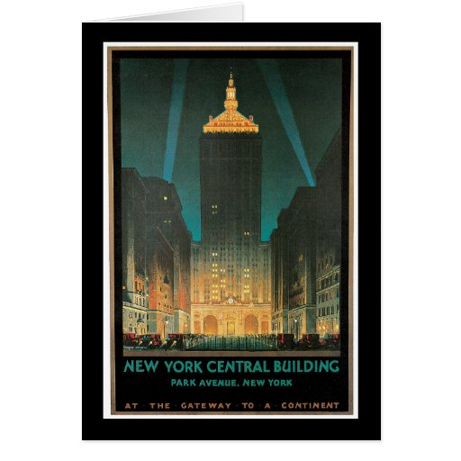New York Central Building, February 1930 Greeting Card