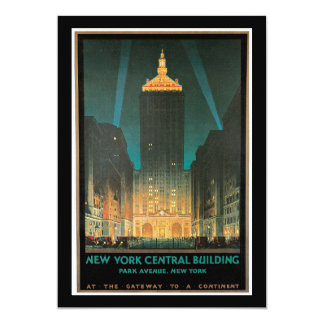 New York Central Building, February 1930 Custom Announcement