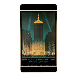 New York Central Building, February 1930 Label