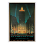 New York Central Building, February 1930 Poster